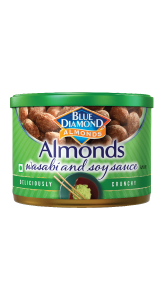 Blue Diamond Almonds Wasabi and Soy Sauce